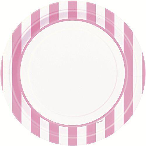 Light Pink Striped Dinner Plates, 8ct Unique http://www.amazon.com/dp/B00VHGD7C4/ref=cm_sw_r_pi_dp_ihoSwb18FPRRV