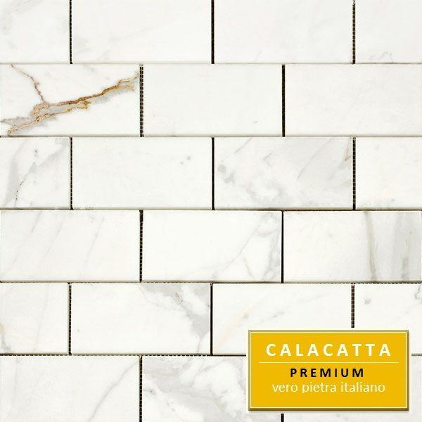 15 95sf Calacatta 3x6 Italian Marble Honed Subway Tile