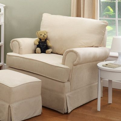 2-piece astrid glider arm chair & ottoman set   joss & main   baby