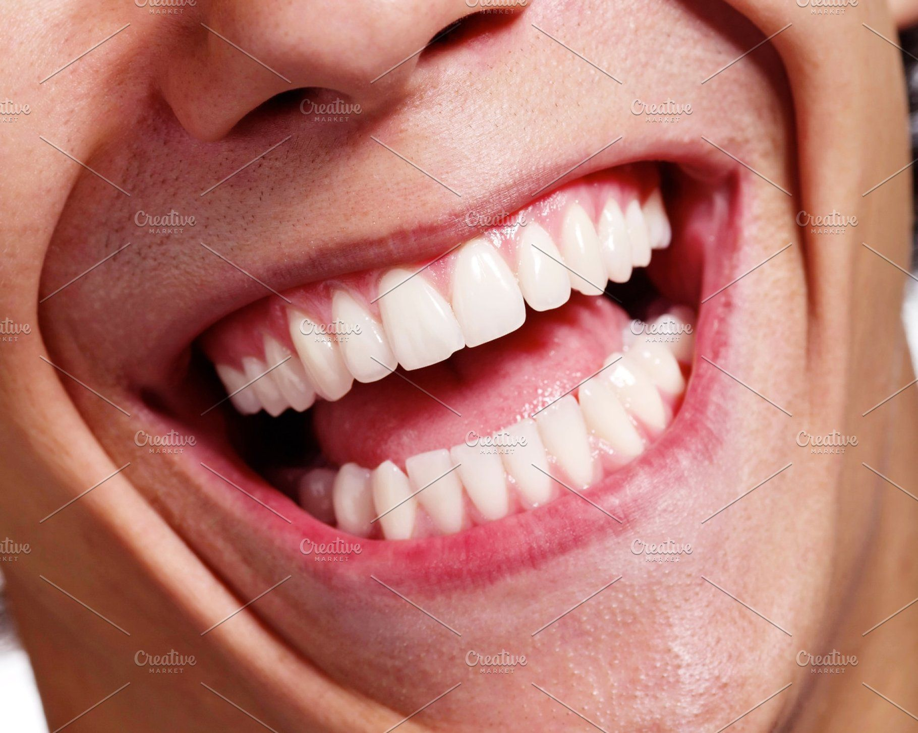 Laughing Mouth Closeup Smile Photo Laughing Face Mouth