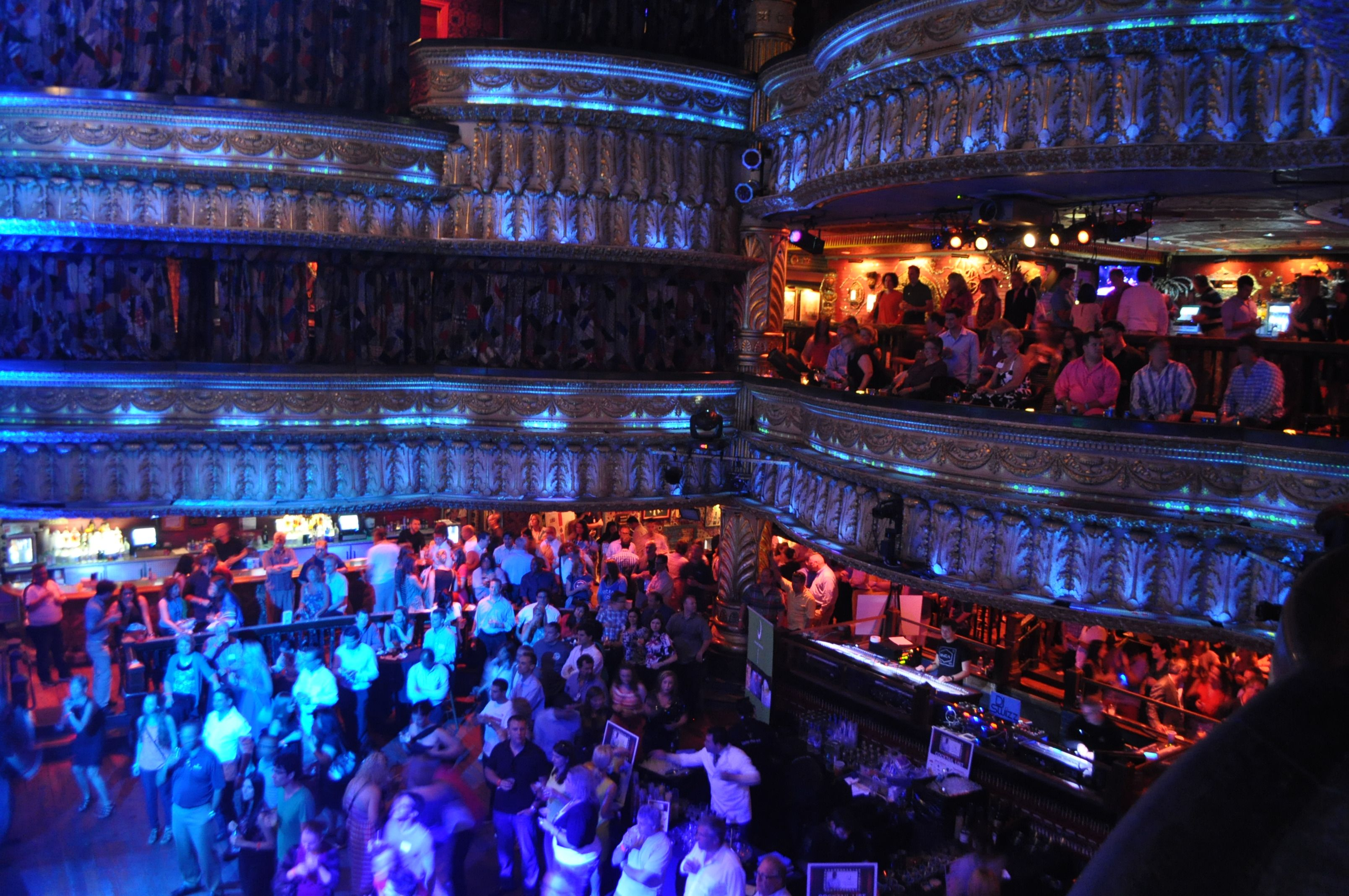 the dance floor and the first balcony from the chicago house of