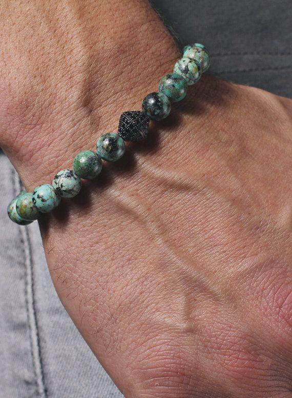 Herren-Armband. Perlen-Armband für Männer. von weareallsmith
