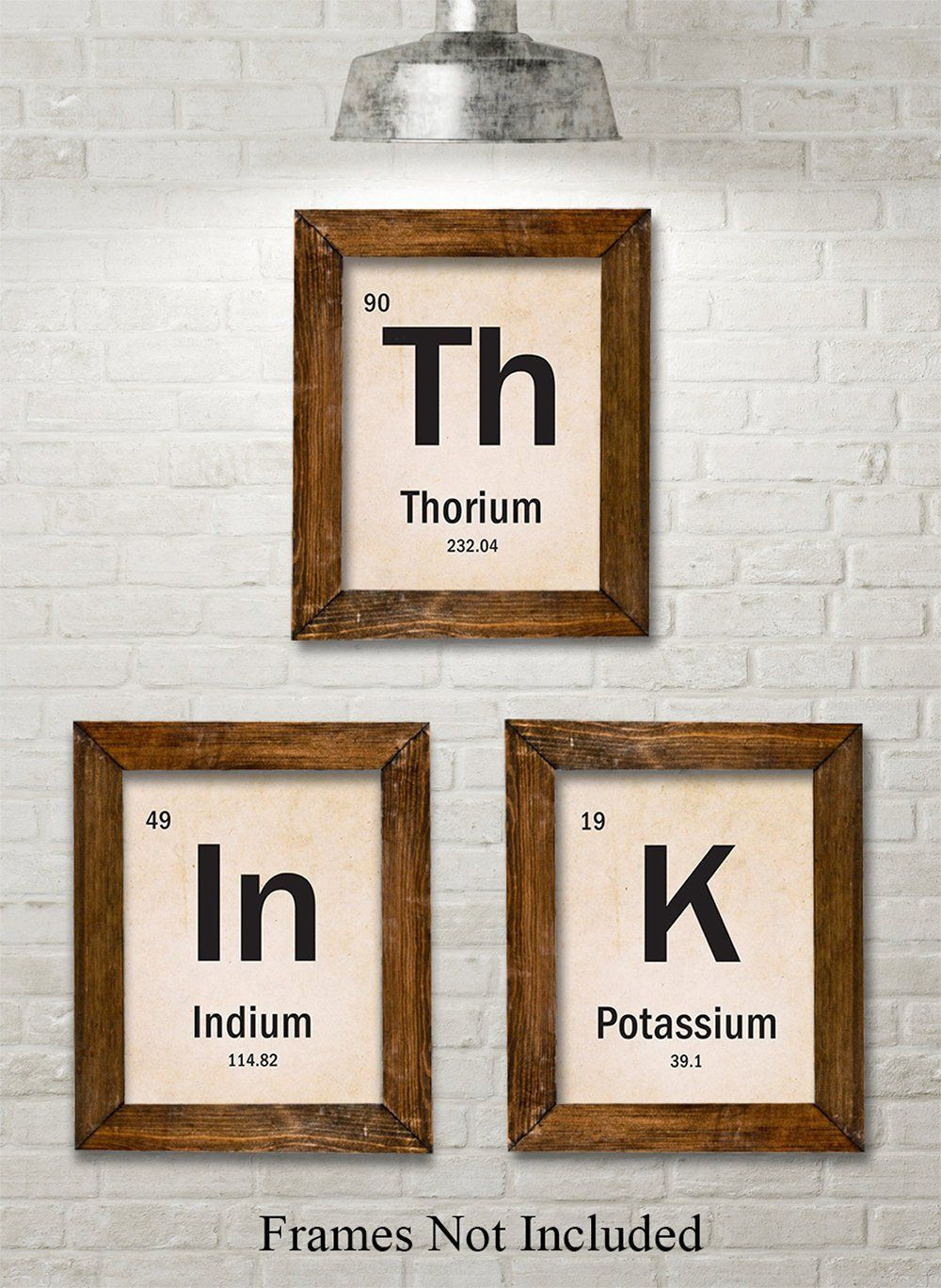 Think Periodic Table Of Elements Set Of 3 11x14 Unframed Art Print