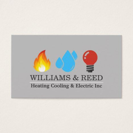 Heating Cooling Electric Business Card Zazzle Com Unique
