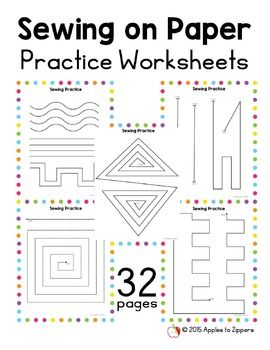 Incredible Sewing On Paper Practice Worksheets Facs Sewing Projects For Wiring Digital Resources Talizslowmaporg