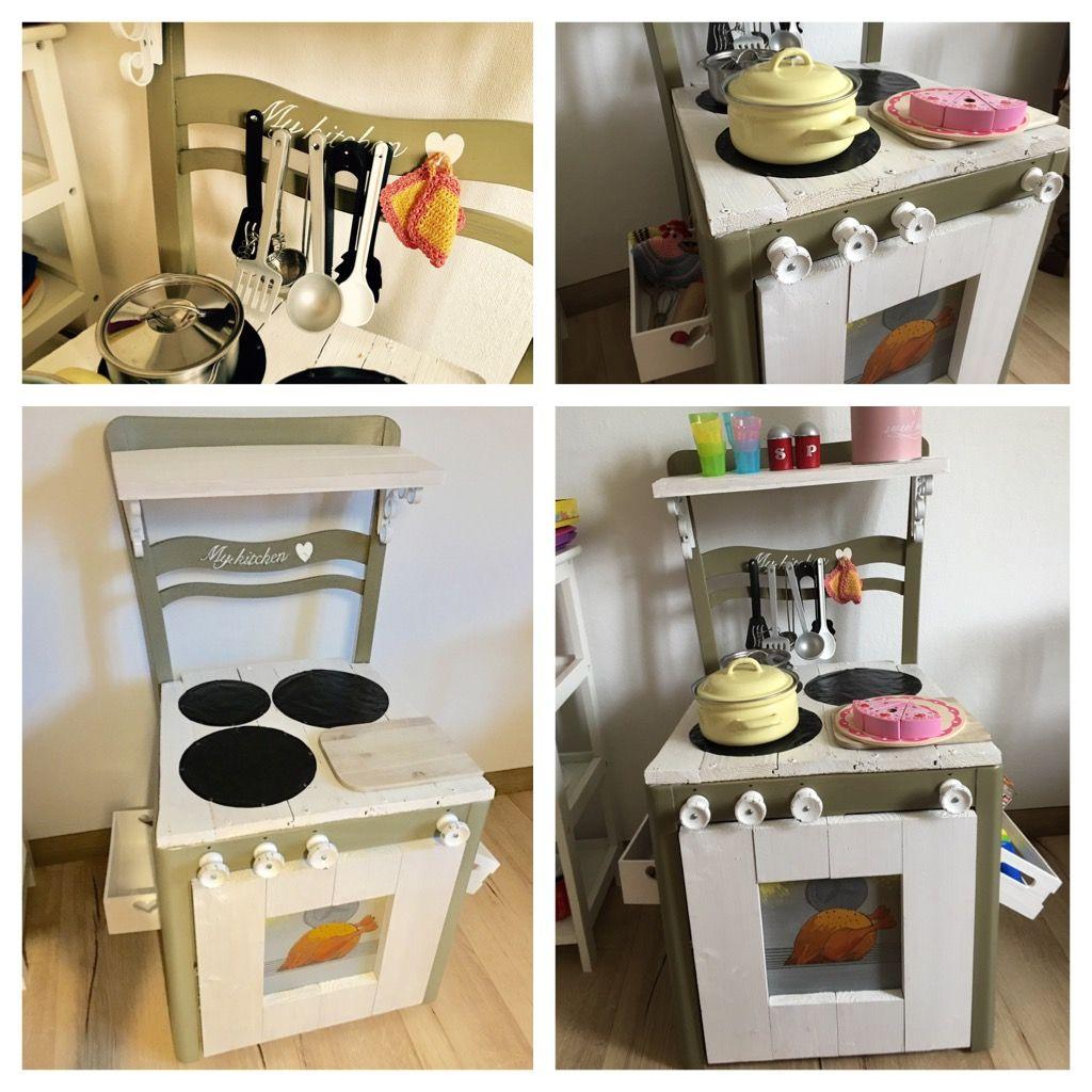diy spielk che aus altem stuhl kids play furniture. Black Bedroom Furniture Sets. Home Design Ideas