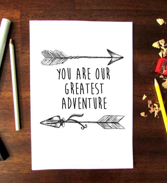 Printable Nursery Art, Typography Quote, You Are Our Greatest Adventure Quote…