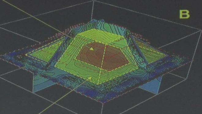 México: descubren otra pirámide dentro de la gran pirámide maya de Kukulkán, en Chichen Itzá Un mapa en 3D que muestra la estructura oculta dentro de una pirámide maya