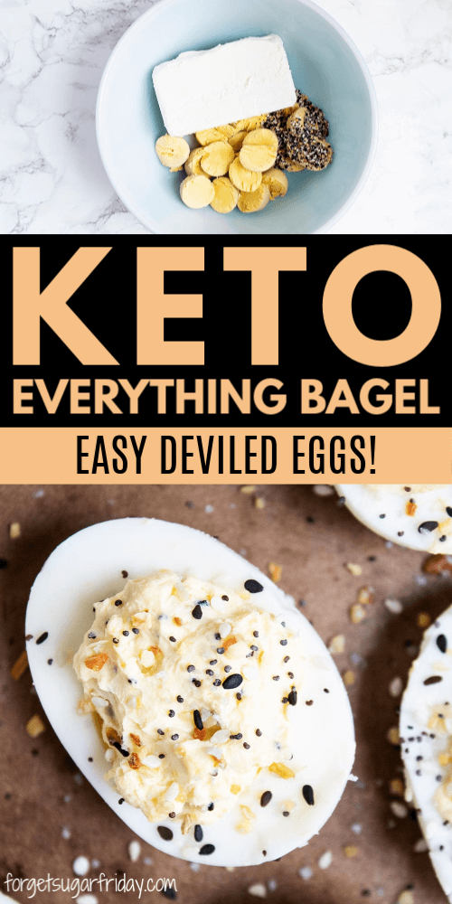 Keto Everything BAGEL flavored deviled eggs recipe!