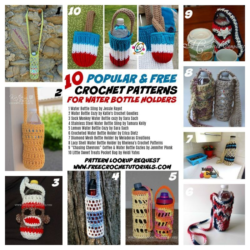 Pin by Kathy Whaley on crochet Water bottle holders