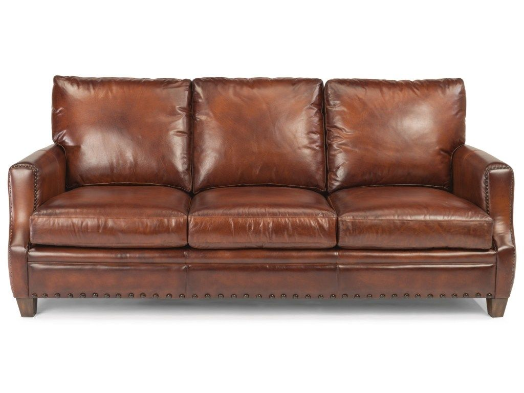 latitudes maxfield rustic leather sofa with nailhead trim by rh pinterest com