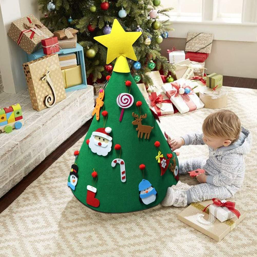 Diy Felt Christmas Tree Best Gift For Children With Images Diy Felt Christmas Tree Felt Christmas Tree Diy 3d Christmas Tree