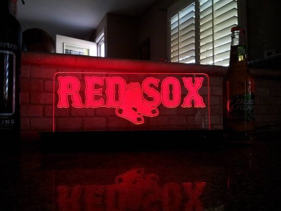 Led Schilder Usa Boston Red Sox Mann Hohlen Kneipe Neon Baseball Game Room