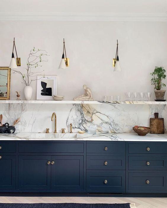 Pin Van Ieva Kup Op Ask Mike Donkerblauwe Keukens Keuken Ontwerp Keuken Interieur
