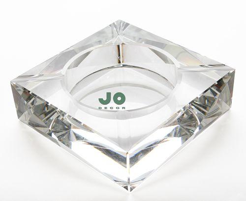 Cinzeiro Em Cristal - Quadrado - JO Decor