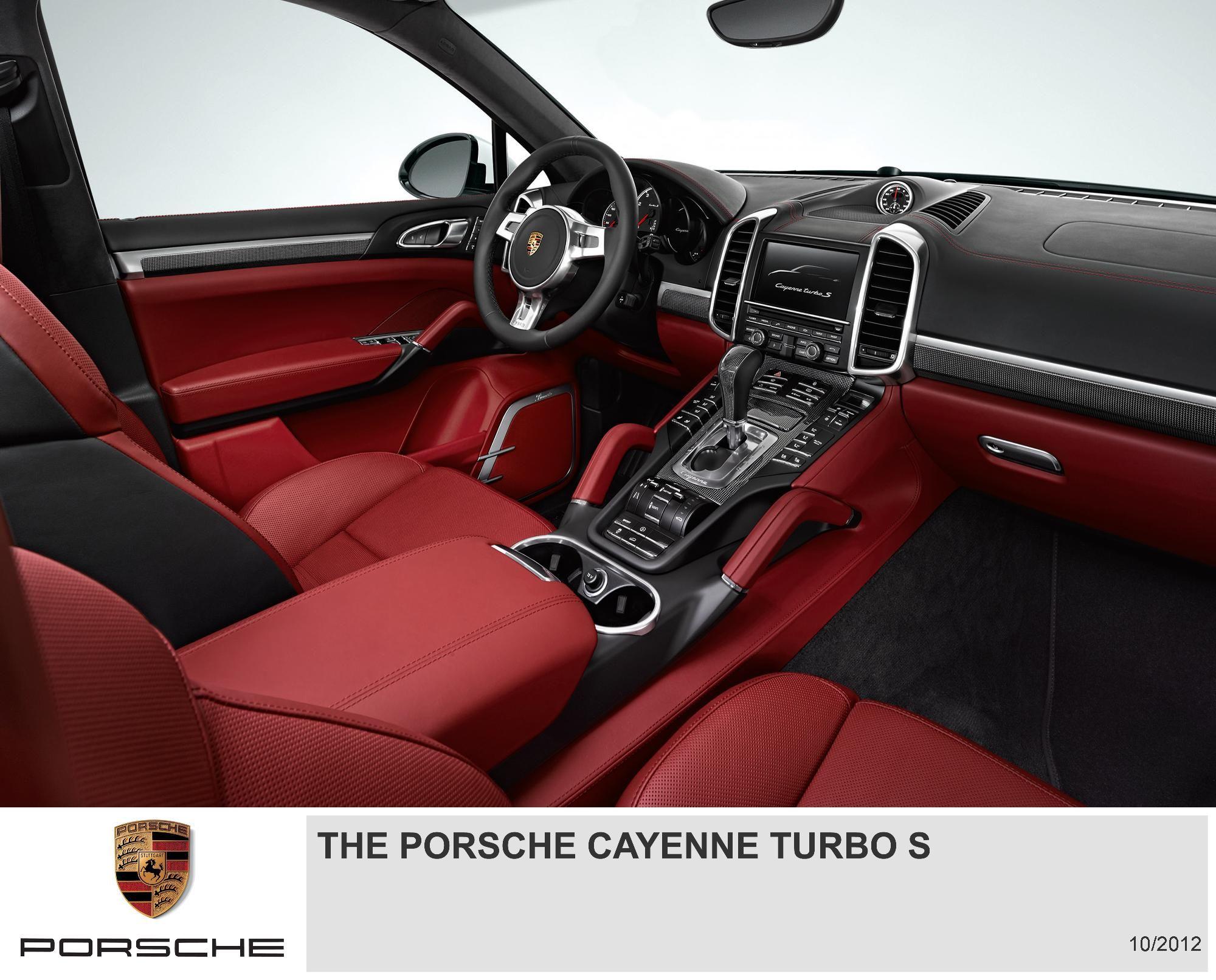 Porsche Cayenne Turbo S With Red Interior Porsche Cayenne Interior Porsche Cayenne Cayenne Turbo