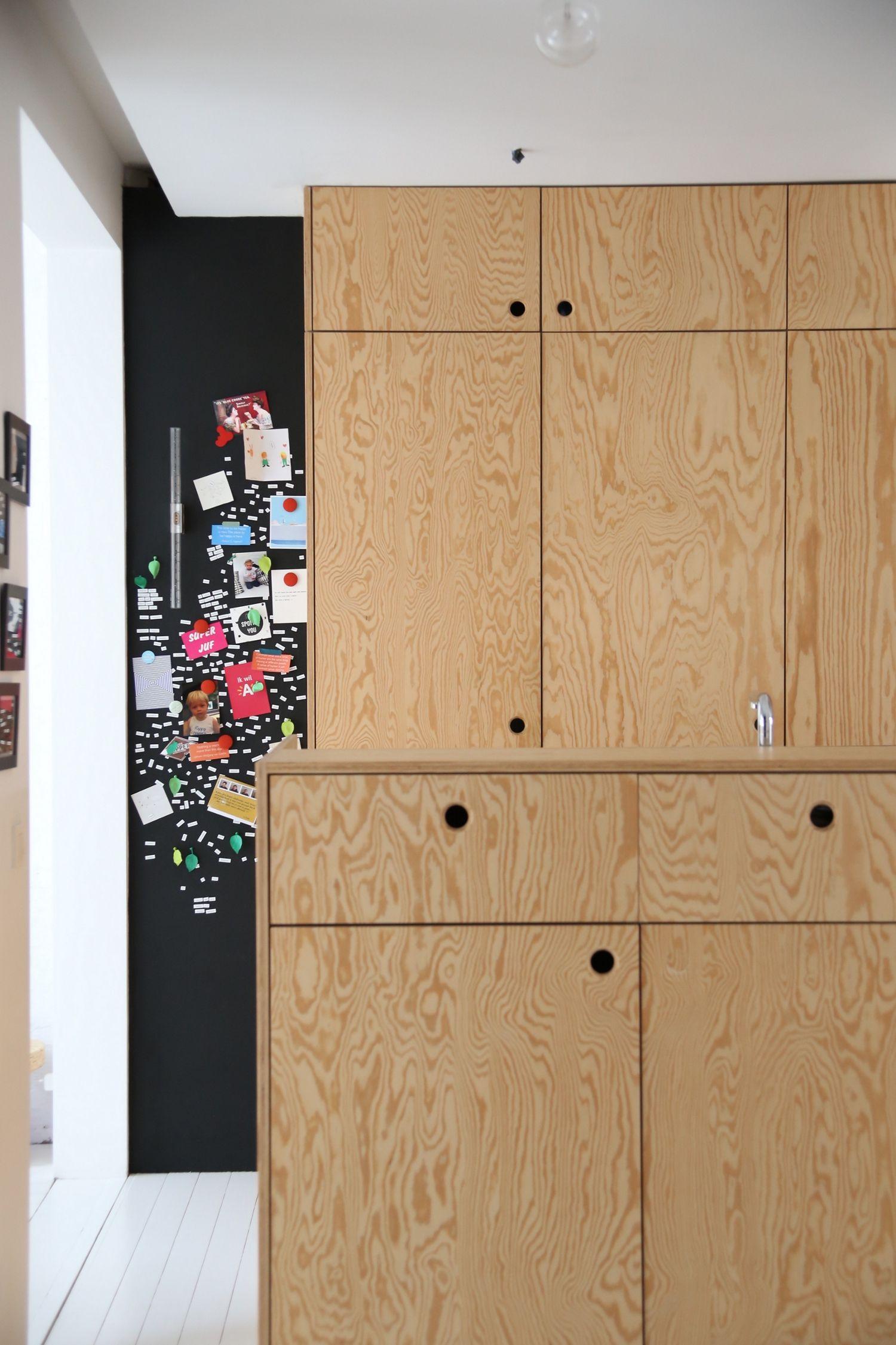 Small kitchen design detail in pine plywood kitchen pinterest