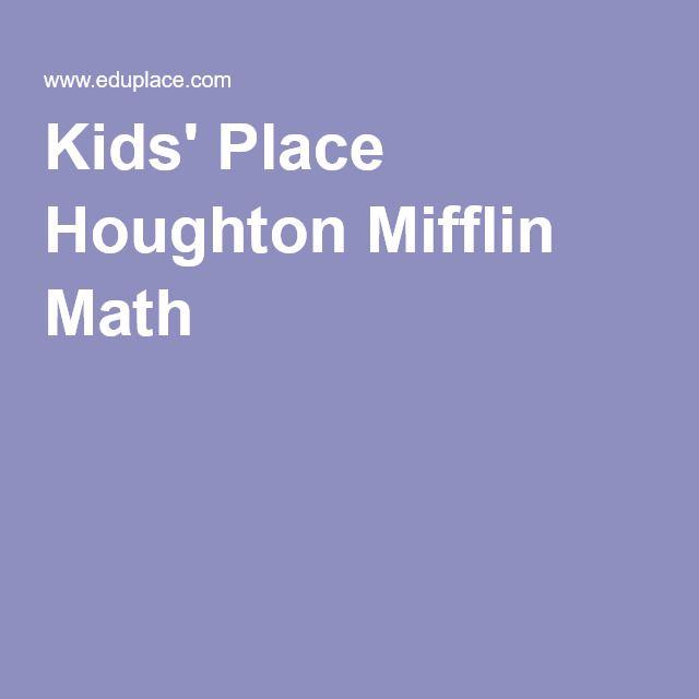 Kids Place Houghton Mifflin Math Homeschool Math Math Kids