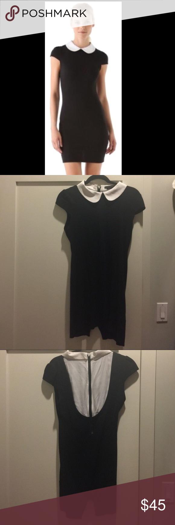 Alice Olivia Black Sweater Dress White Dress 8 Cute black sweater ...