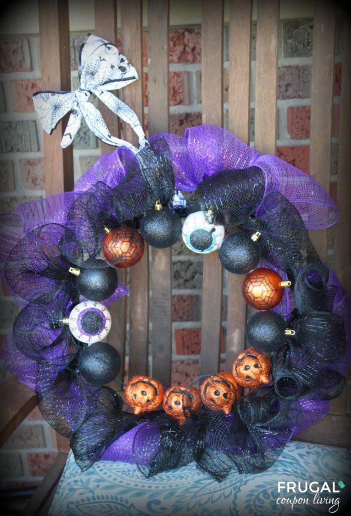 Halloween Dollar Tree Wreath Dollar store halloween