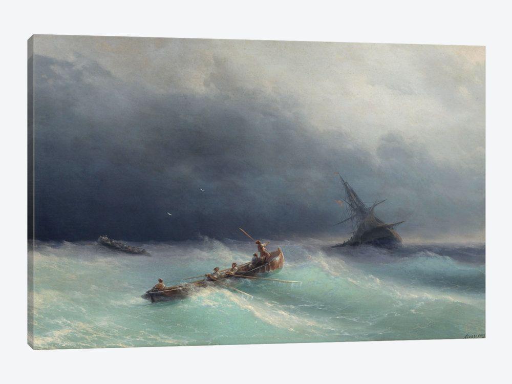 Storm At Sea Canvas Art Print By Ivan Aivazovsky Icanvas Ship Paintings Traditional Artwork Canvas Art Prints