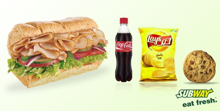 Savour Your Favourite 6 Inch Subway Sandwich Along With Chips Or A Cookie And A 500ml Soft Drink Bottle For Aed 13 Value Aed 25 Food Foodie Eat