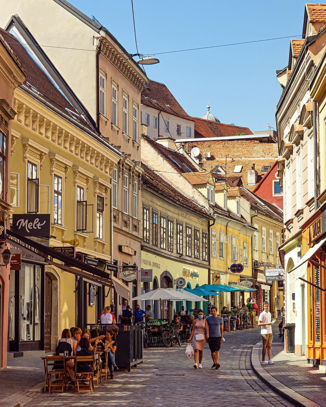 Colourful Streets City Streets Summer Colours Zagreb Croatia Travel Culture Architecture Sony Sonyalpha In 2020 Street Street View Croatia