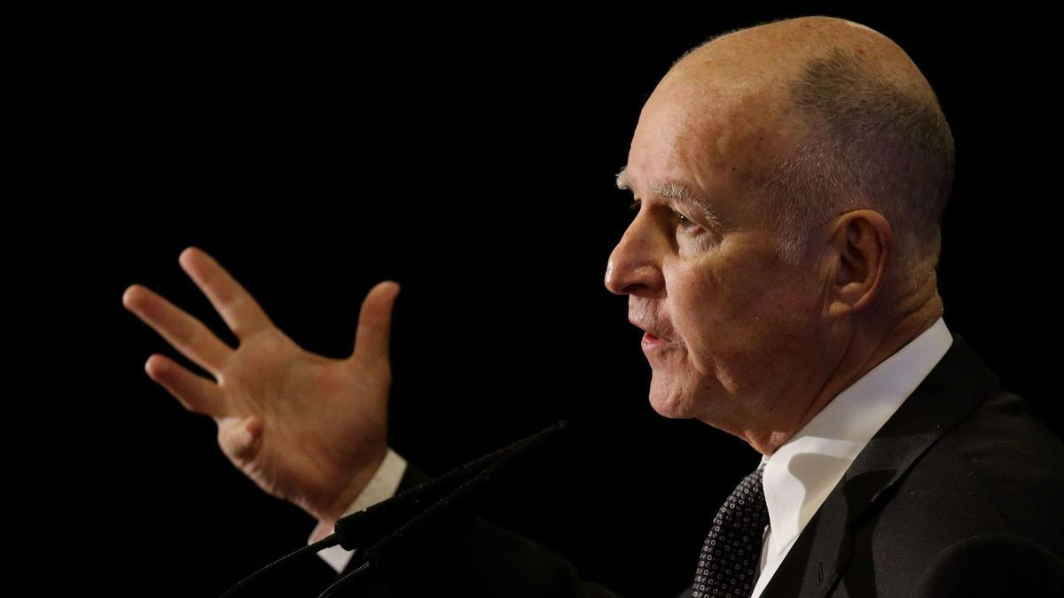 """When he's lecturing about climate change, Gov. Jerry Brown sounds like a street-corner preacher shouting: """"Repent. Change your ways. The end is near."""" But it's nearly Christmas and wicked wildfires are devastating California beauty. So Brown is obviously on to something."""