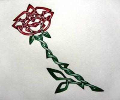 Celtic Rose Tattoo Image Jpg 400 334 Irish Tattoos Rose Tattoos Celtic Tattoos