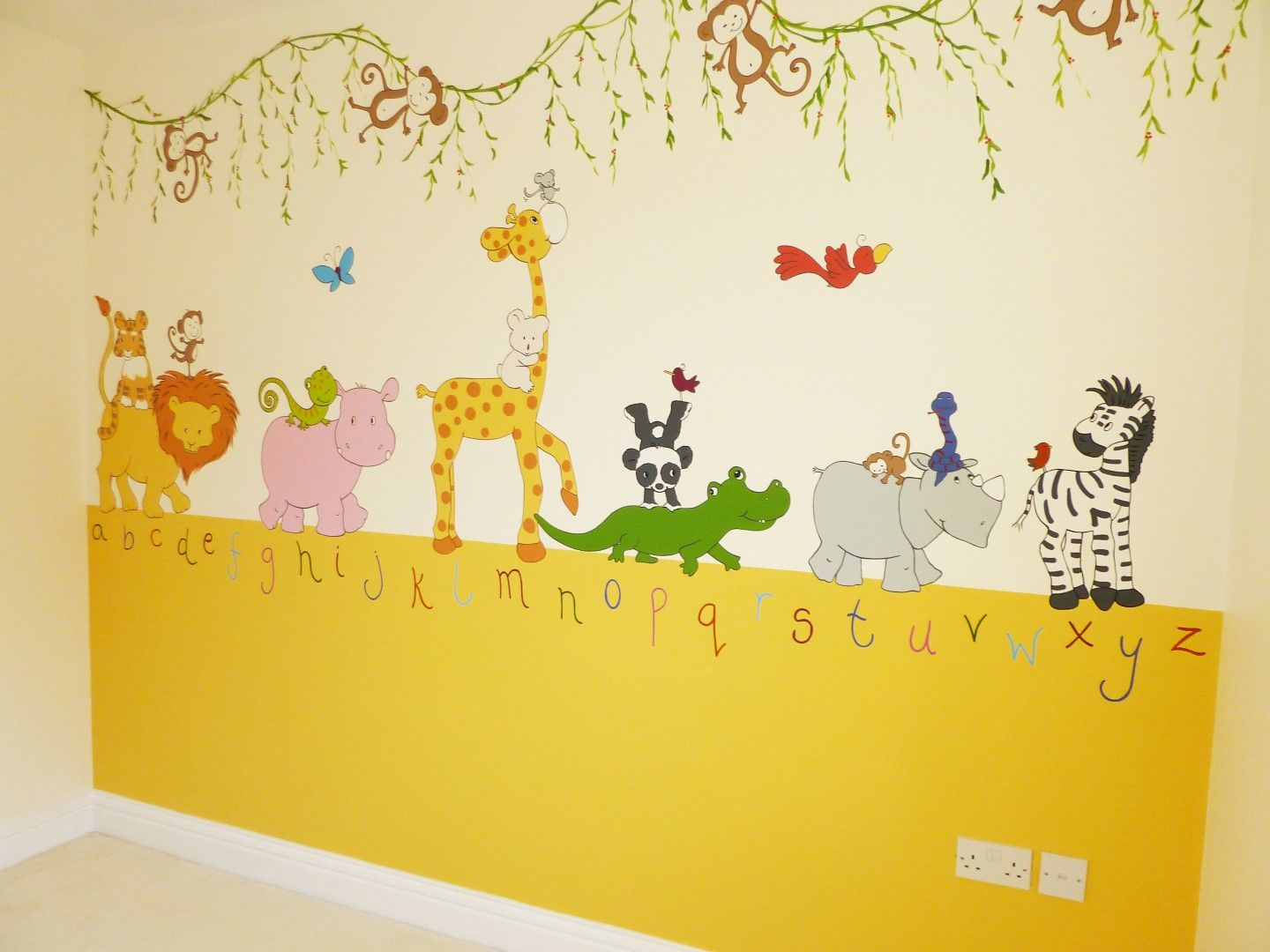 Alphabet Wall Mural Choice Image - home design wall stickers