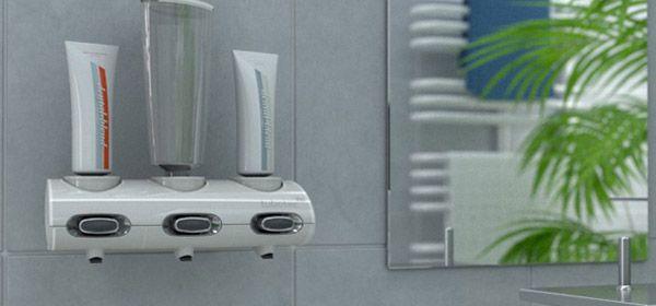 Zahnpastaspender Tubtec Design und Farbe für Ihr Badezimmer