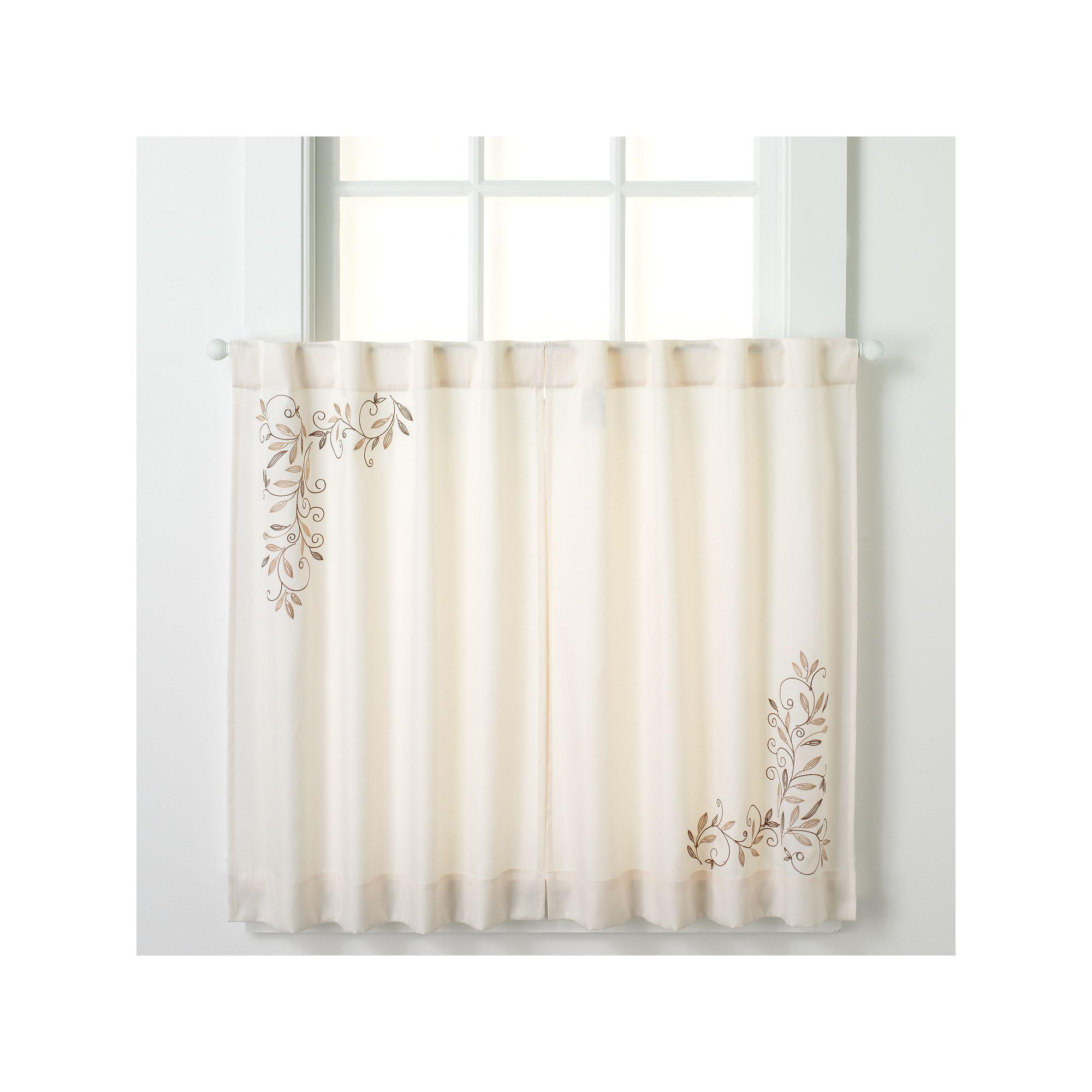 Chf Scroll Leaf Tier Kitchen Window Curtain Set Kitchen Window