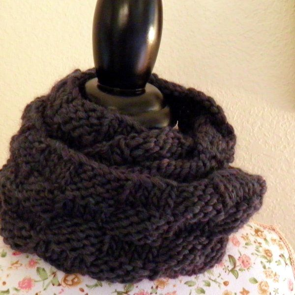 Harmony Basket Weave Cowl Free Knitting Pattern Nobleknits Free