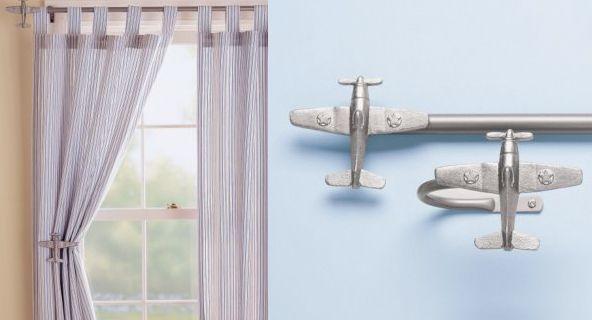 Airplanes Airplane Curtain Rods Holdbacks Curtains Curtain
