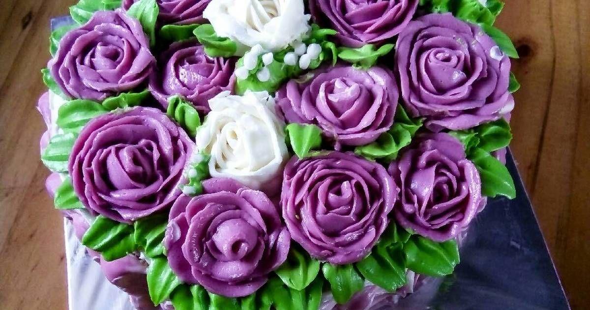 Resep Buttercream Kokoh Untuk Mawar Oleh Pipitiku Resep Kue Kue Ulang Tahun Mawar
