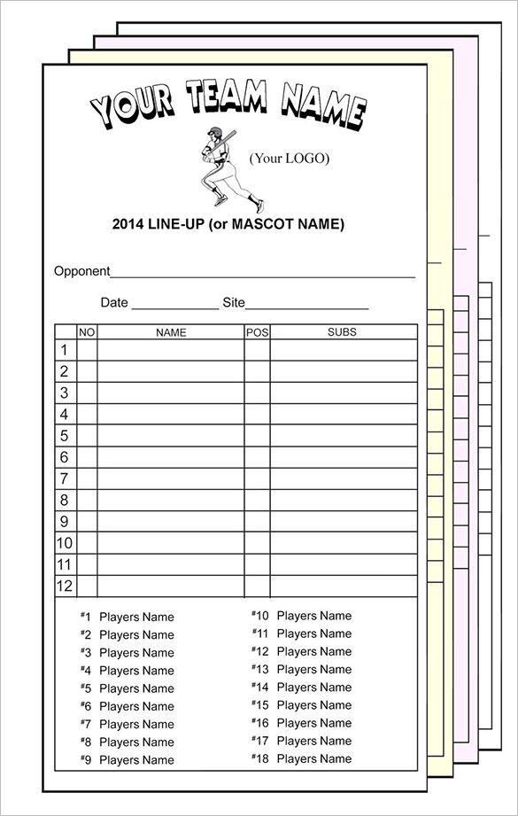 Doc Pdf Psd Eps Free Premium Templates Baseball Card Template Baseball Lineup Baseball Lines