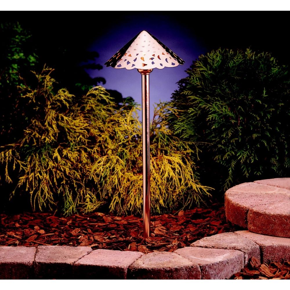 Kichler Hammered Copper Led Landscape Path Light Style N1664 Outdoor Path Lighting Solar Lights Garden Outdoor Lighting Landscape