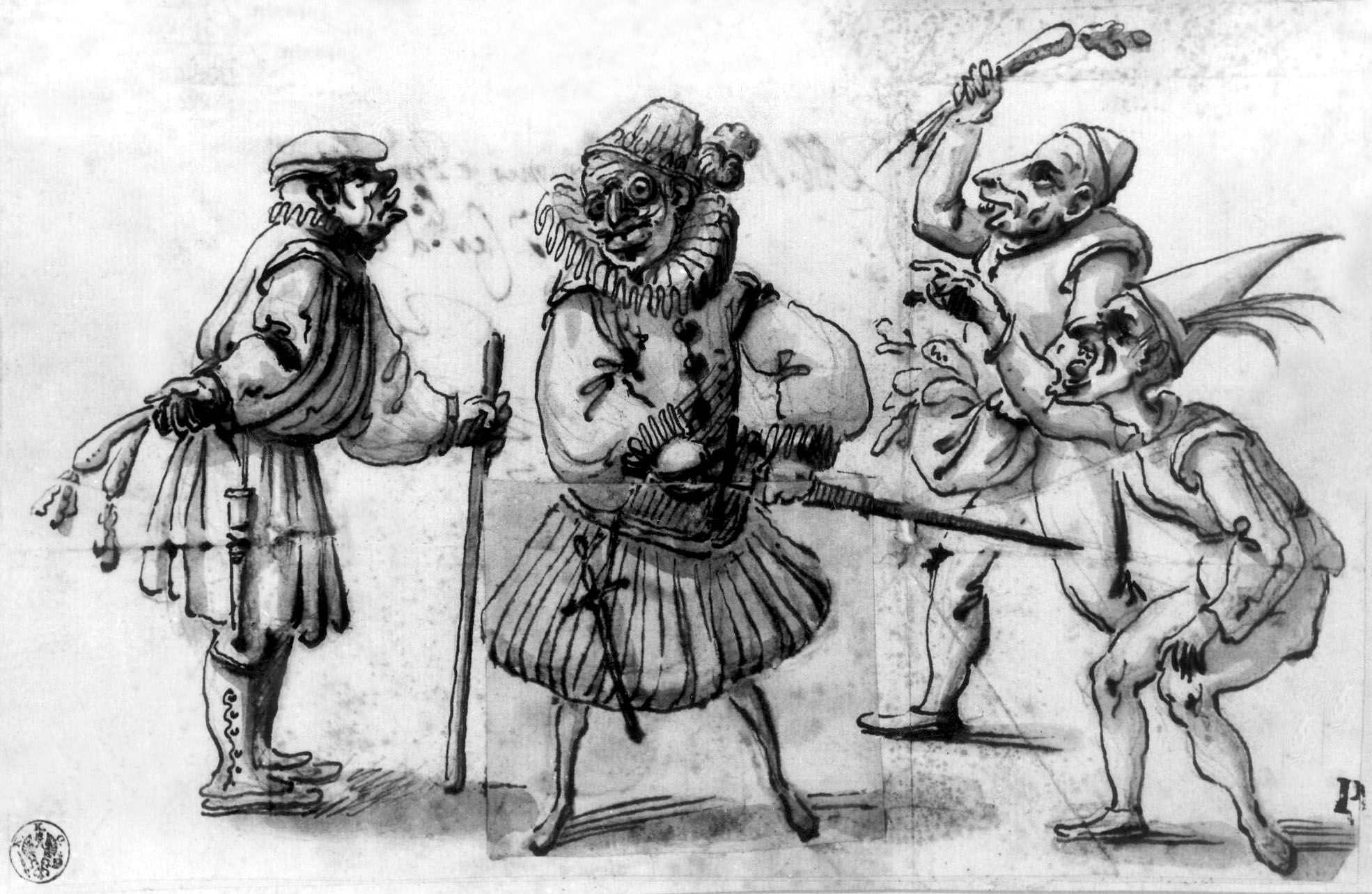 "School of Modena (17th century), ""Caricatures,"" undated. Pen and bistre or ink…"