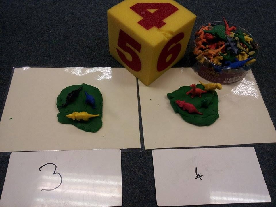 eyfs maths activity for our dinosaur topic how many dinosaurs are in the swamp maths. Black Bedroom Furniture Sets. Home Design Ideas