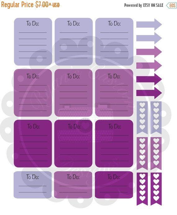 SALE April Erin Condren Planner Sticker Sampler Kit | 24 Stickers | April | Purple | Themed | Sampler | (4.20 USD) by BellaPlans
