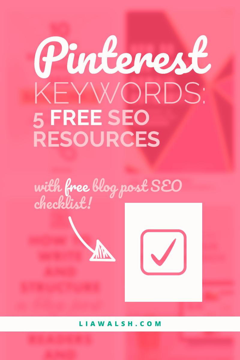 Pinterest keyword tools 5 free SEO resources Pinterest