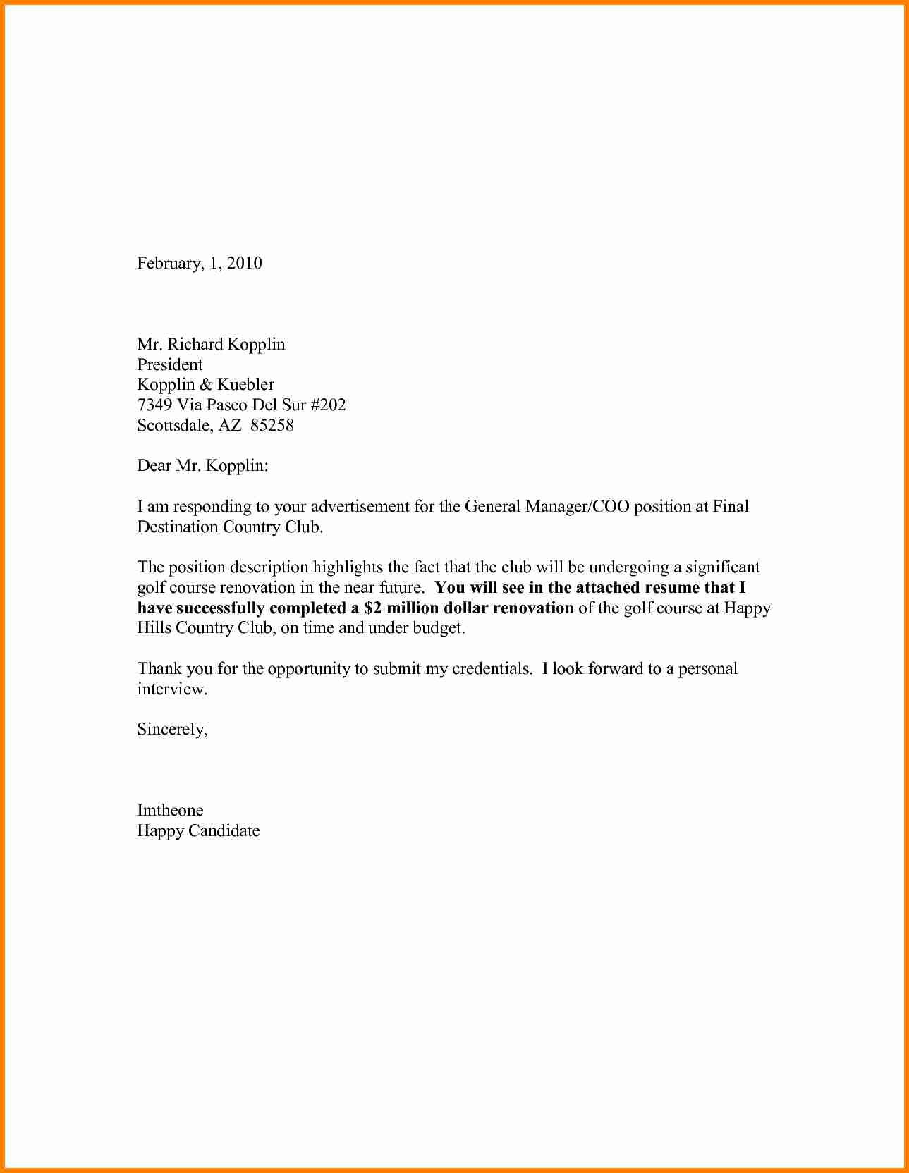 27 General Cover Letter Sample Cover Letter For Resume Job