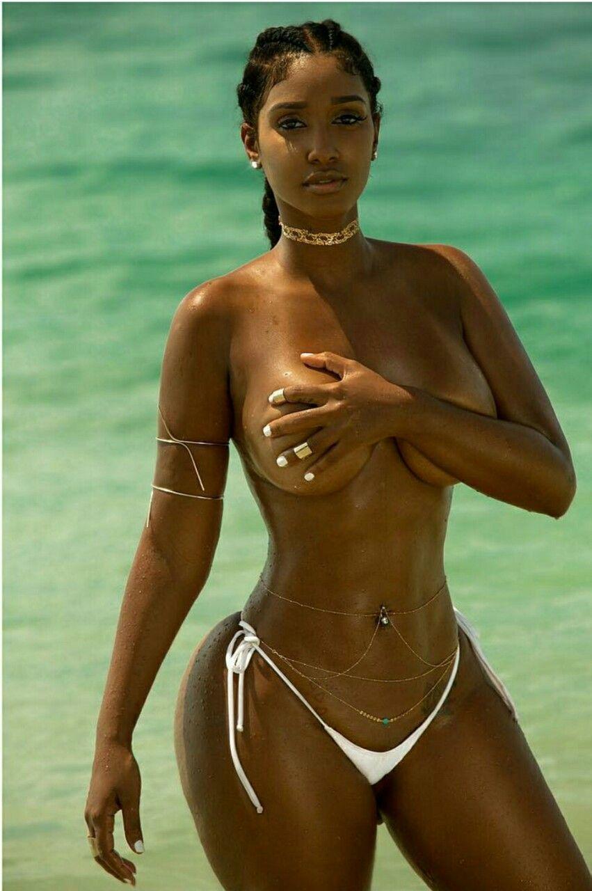 oiled girl Smooth ebony