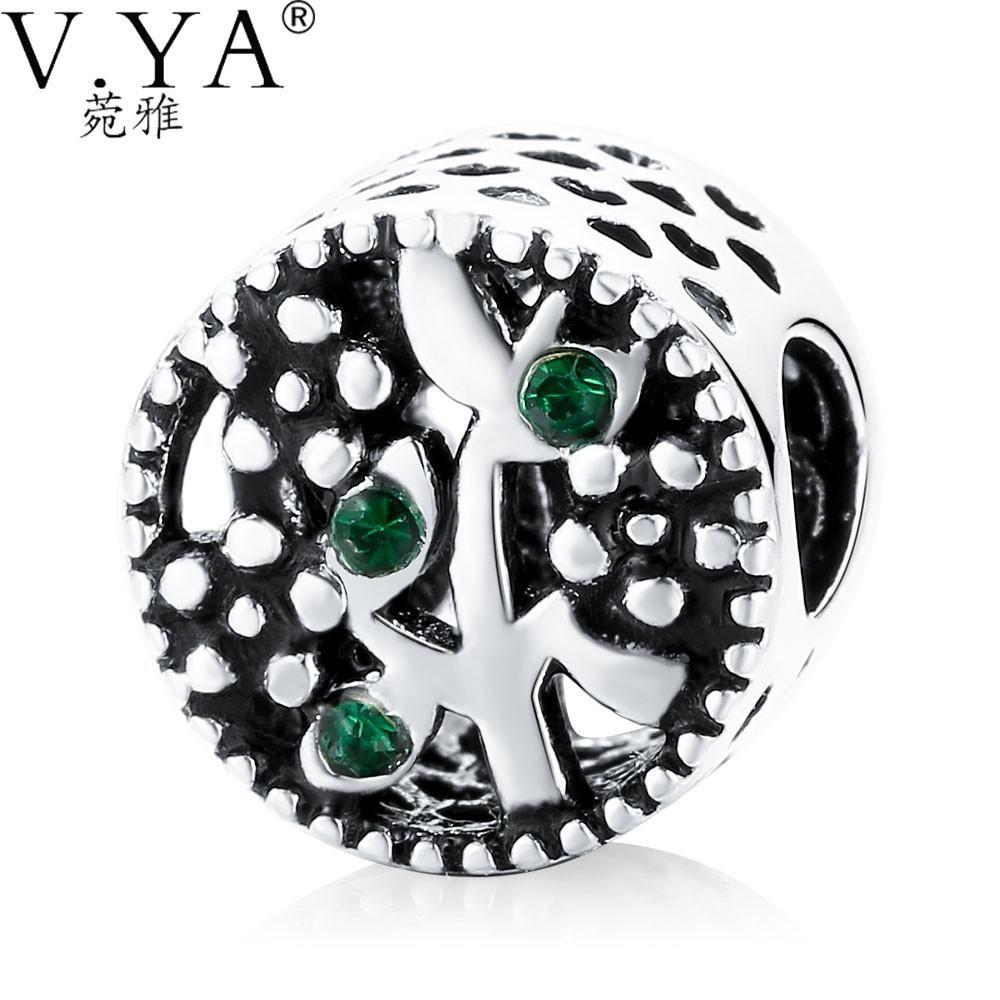 Lovely Tree Beads Fit for Original Pandora Bracelets Necklace