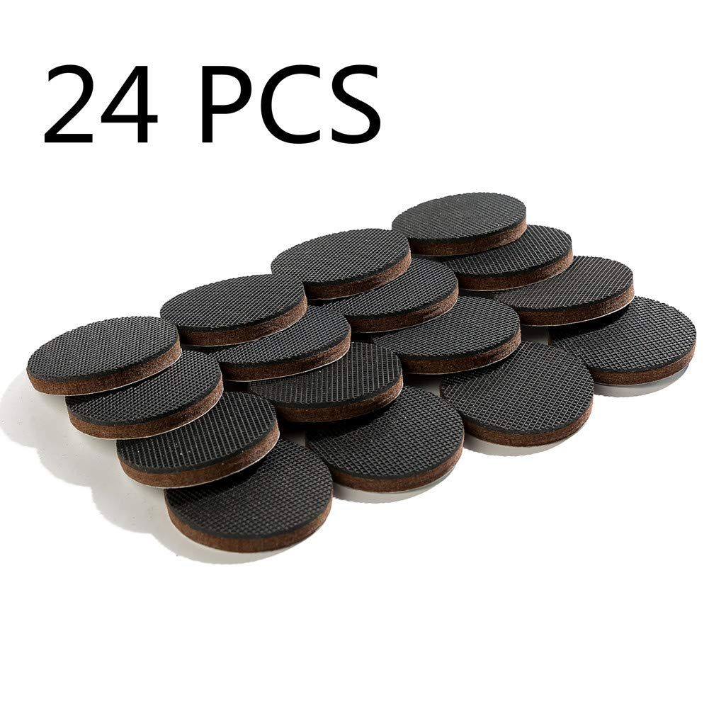Furniture Pads 24 Pcs Non Slip Round Furniture Grippers Ideal Chair Leg Floor Protectors Heavy Furniture Grippers Furniture Pads Chair Leg Floor Protectors
