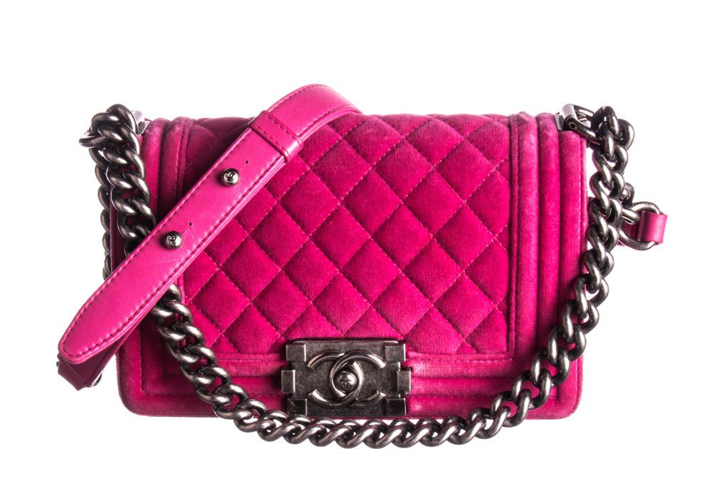 edd76b272986 CHANEL Pink Quilted Velvet Small Boy Flap Bag  fashion  clothing  shoes   accessories  womensbagshandbags (ebay link)