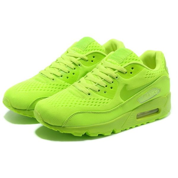 Nike Air Max 90 EM Women Neon Green ($69) ❤ liked on