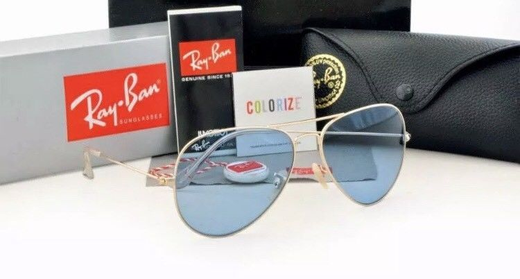 108a3559b4 RAY BAN Sunglasses Gold FRAME Blue LENS AVIATOR  fashion  clothing  shoes   accessories  unisexclothingshoesaccs  unisexaccessories (ebay link)