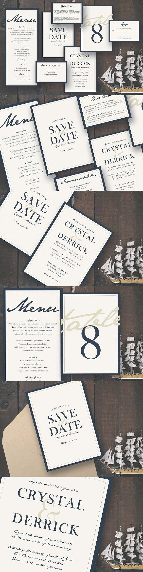 templates for wedding card design%0A Deep Blue Sea Wedding Suite  Wedding Invitation TemplatesWedding