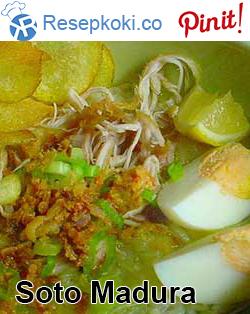 Resep Soto Madura Asli Resep Makanan Asia Resep Makanan Bayi Resep Masakan